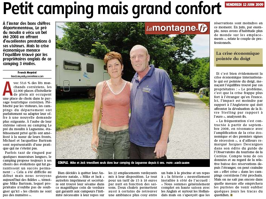 Petit camping mais grand confort